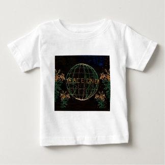 Camiseta Para Bebê Paz do Natal na terra 1