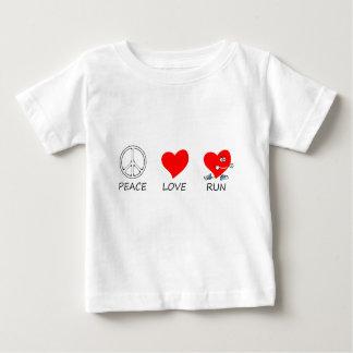 Camiseta Para Bebê paz love20