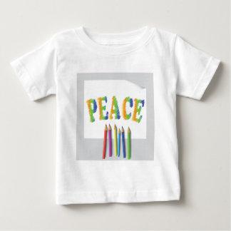 Camiseta Para Bebê paz pintada