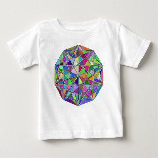 Camiseta Para Bebê Pedra de gema tirada Kaleidescope colorida
