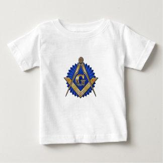 Camiseta Para Bebê Pedreiro azul do alojamento