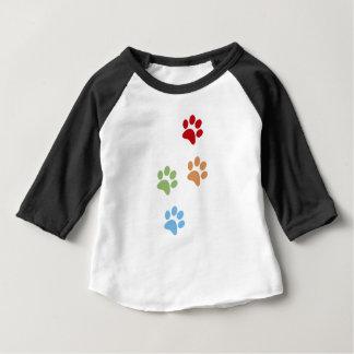 Camiseta Para Bebê Pegada do cão