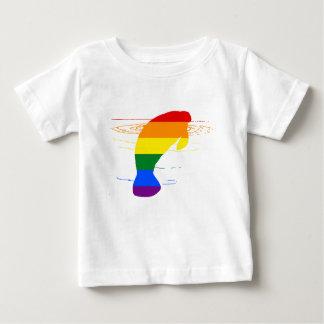 Camiseta Para Bebê Peixe-boi do arco-íris