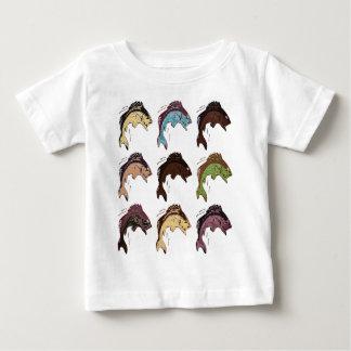 Camiseta Para Bebê Peixes