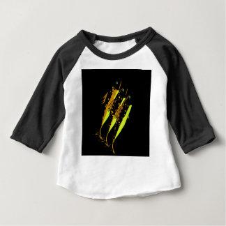 Camiseta Para Bebê Peixes amarelos