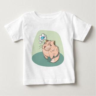Camiseta Para Bebê Peixes animais do gato que pensam o animal de
