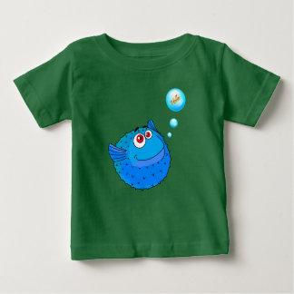 Camiseta Para Bebê Peixes bonitos do soprador
