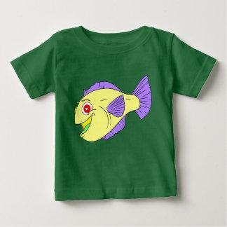 Camiseta Para Bebê Peixes coloridos bonitos dos desenhos animados