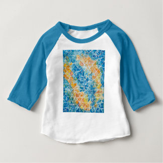 Camiseta Para Bebê Peixes com ondinhas