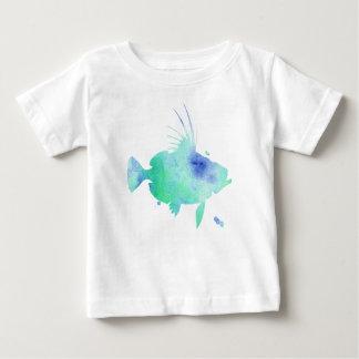 Camiseta Para Bebê Peixes do splatter da água do Aqua