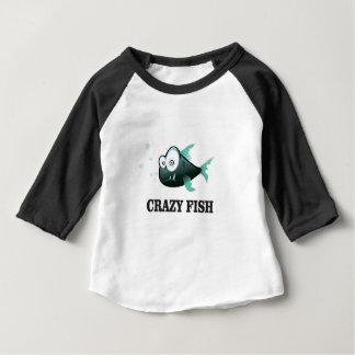 Camiseta Para Bebê peixes loucos yeah