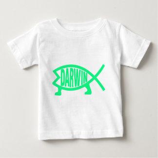 Camiseta Para Bebê Peixes originais de Darwin (Seafoam)