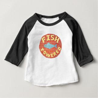 Camiseta Para Bebê Peixes pstos