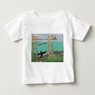 Camiseta Para Bebê Peixes que não mordem hoje
