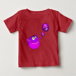 Camiseta Para Bebê Peixes roxos bonitos do soprador