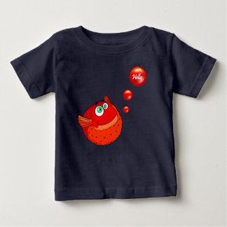 Camiseta Para Bebê Peixes vermelhos bonitos do soprador