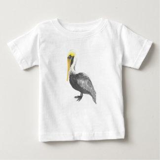 Camiseta Para Bebê Pelicano de Brown