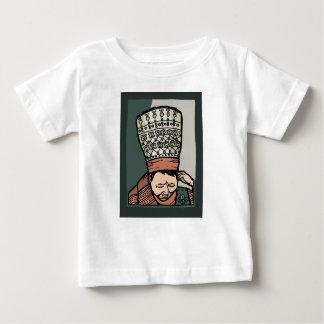 Camiseta Para Bebê Pensamento asiático central da mulher (no chapéu)