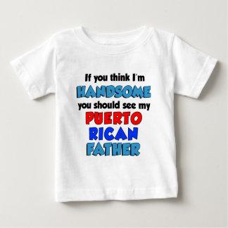 Camiseta Para Bebê Pense que eu sou pai porto-riquenho considerável