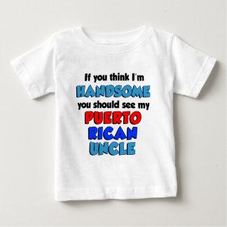Camiseta Para Bebê Pense que eu sou tio porto-riquenho considerável