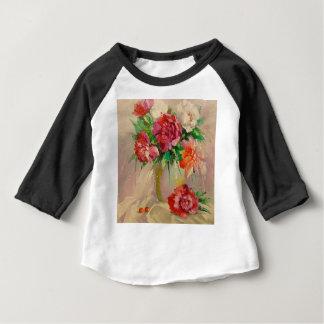Camiseta Para Bebê Peônias