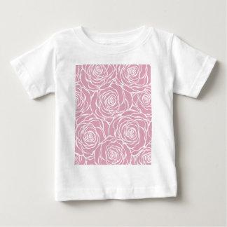 Camiseta Para Bebê Peônias, floral, branco, cor-de-rosa, teste