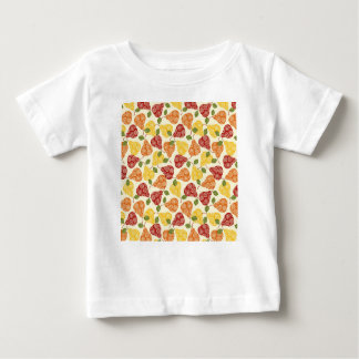 Camiseta Para Bebê Peras bonitos bonitas em cores do outono