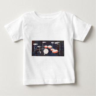 Camiseta Para Bebê Percussão da cor