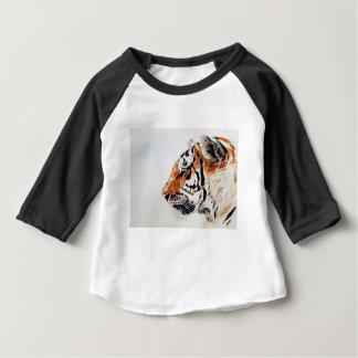 Camiseta Para Bebê Perfil da aguarela da pintura da natureza animal