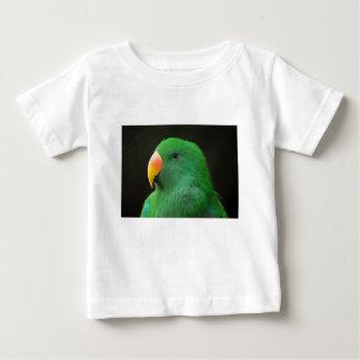 Camiseta Para Bebê Perfil verde do papagaio