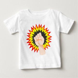 Camiseta Para Bebê Perfurador da energia do poder do braço da força