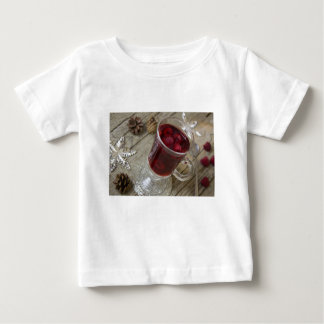 Camiseta Para Bebê Perfurador das bagas do Natal