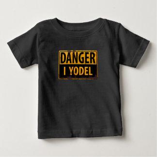 Camiseta Para Bebê PERIGO, EU YODEL sinal de aviso de advertência do