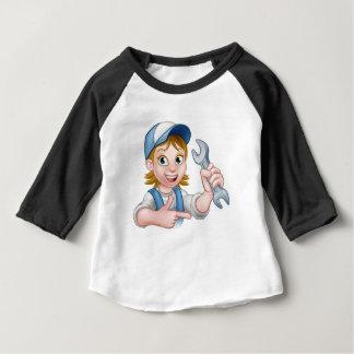 Camiseta Para Bebê Personagem de desenho animado da mulher do