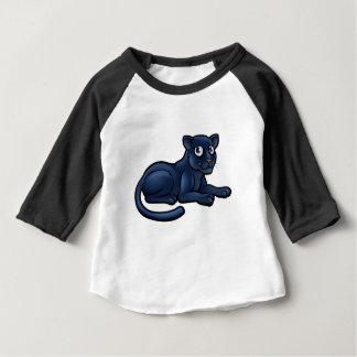 Camiseta Para Bebê Personagem de desenho animado da pantera preta
