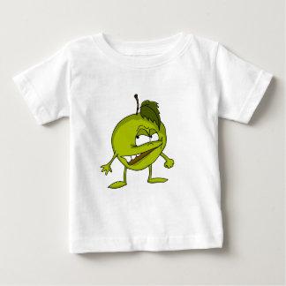 Camiseta Para Bebê Personagem de desenho animado de Apple com um