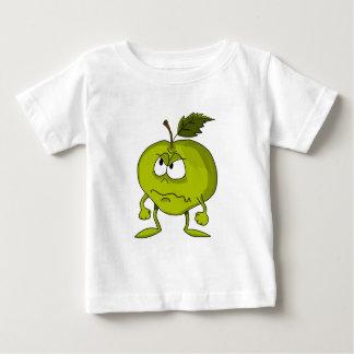 Camiseta Para Bebê Personagem de desenho animado de Apple com uma