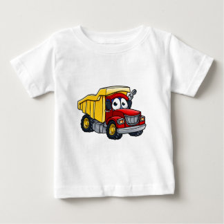 Camiseta Para Bebê Personagem de desenho animado do camião basculante