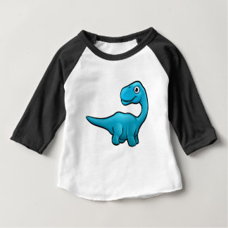 Camiseta Para Bebê Personagem de desenho animado do dinossauro do