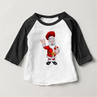 Camiseta Para Bebê Personagem de desenho animado do Natal do