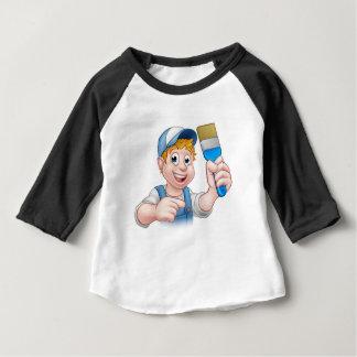 Camiseta Para Bebê Personagem de desenho animado do trabalhador