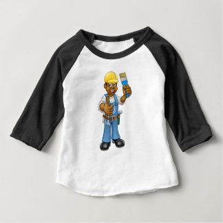 Camiseta Para Bebê Personagem de desenho animado preto do decorador