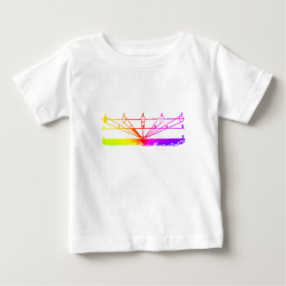 Camiseta Para Bebê Perspectiva da cor, astronomia Zetetic pelo