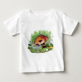 Camiseta Para Bebê Pesca da carpa