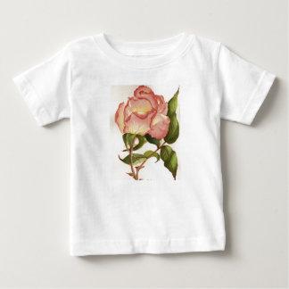 Camiseta Para Bebê Pêssego e t-shirt do rosa do rosa