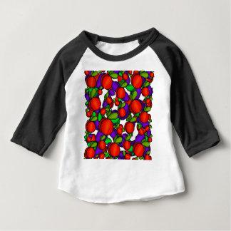 Camiseta Para Bebê Pêssegos e ameixas