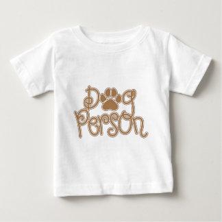 Camiseta Para Bebê Pessoa do cão