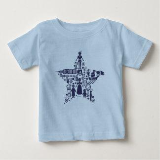 Camiseta Para Bebê Peter Pan & estrela dos amigos