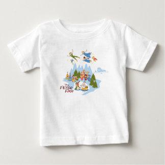 Camiseta Para Bebê Peter Pan que voa sobre Neverland