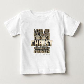 Camiseta Para Bebê Phil4: 13 eu posso fazer todas as coisas com o